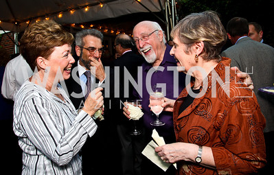 "Audrey and Robert Romasco, Walt and Edie Mossberg. Ira Shapiro's ""The Last Great Senate"" book party. Photo by Tony Powell. April 16, 2012"