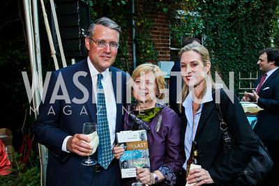 "Paul Bock, Mimi Mager, Carolyn Atwell-Davis. Ira Shapiro's ""The Last Great Senate"" book party. Photo by Tony Powell. April 16, 2012"