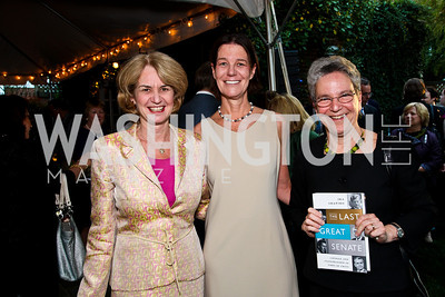 "Kathleen Kennedy Townsend, Tamera Luzzatto, Judy Feder. Ira Shapiro's ""The Last Great Senate"" book party. Photo by Tony Powell. April 16, 2012"