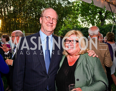 "Mike House, Gloria Dittus. Ira Shapiro's ""The Last Great Senate"" book party. Photo by Tony Powell. April 16, 2012"