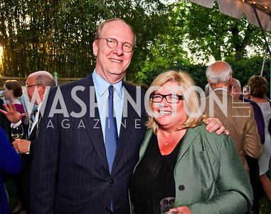 "Mike House, Gloria Dittus. Ira Shapiro's ""The Last Great Senate"" book party. Photo by Tony Powell. April 16, 2012"