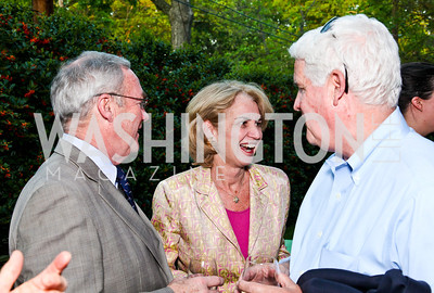 "Rick Sloan, Kathleen Kennedy Townsend, Kevin Sullivan. Ira Shapiro's ""The Last Great Senate"" book party. Photo by Tony Powell. April 16, 2012"
