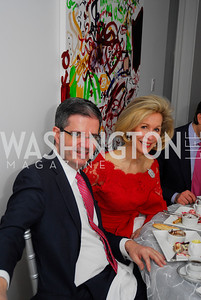 Ambassador Francois Delattre,Bonnie McElveen-Hunter,January 14,2012,JoAnn Mason's Birthday