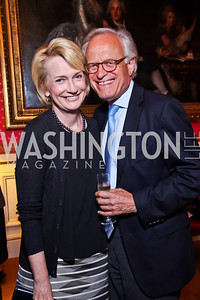 "Gahl Burt and Martin Indyk. Kati Marton's ""Paris: A Love Story"" book launch. Photo by Tony Powell. Residence of the Ambassador of France. September 10, 2012"