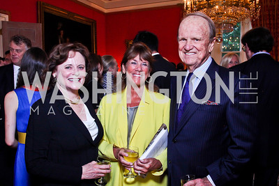 "Elizabeth Stevens, Susie Trees, George Stevens Jr. Kati Marton's ""Paris: A Love Story"" book launch. Photo by Tony Powell. Residence of the Ambassador of France. September 10, 2012"