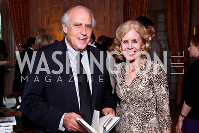 "Dan Glickman, Ann Nitze. Kati Marton's ""Paris: A Love Story"" book launch. Photo by Tony Powell. Residence of the Ambassador of France. September 10, 2012"