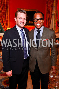 "Nick Schmit, Jonathan Capehart. Kati Marton's ""Paris: A Love Story"" book launch. Photo by Tony Powell. Residence of the Ambassador of France. September 10, 2012"