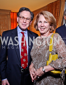 "Sidney and Jackie Blumenthal. Kati Marton's ""Paris: A Love Story"" book launch. Photo by Tony Powell. Residence of the Ambassador of France. September 10, 2012"