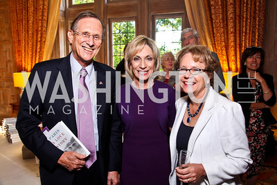 "Hungarian Ambassador György Szapáry, Andrea Mitchell, Emma Oxford. Kati Marton's ""Paris: A Love Story"" book launch. Photo by Tony Powell. Residence of the Ambassador of France. September 10, 2012"