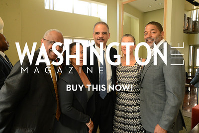 Debbie Allen, Attorney General of the United States, Eric Holder, with his wife, Dr. Sharon Malone and former NBA player Norm Nixon (Debbie Allen's husband) Photo by Neshan H. Naltchayan