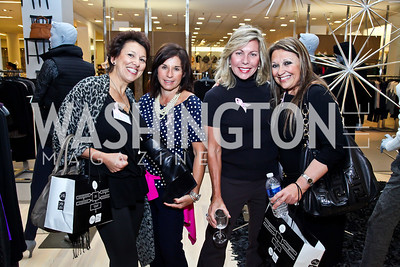 Sharon Ricciardi, Teri Stier, Lee Straton, Rena Vakay. Photo by Tony Powell. Kickoff for Key to the Cure. Saks Tyson's Galleria. October 18, 2012