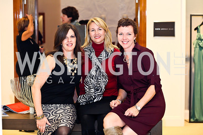 Lisa Danielczyk, Lisa Vaughan, Nancy Kabance. Photo by Tony Powell. Kickoff for Key to the Cure. Saks Tyson's Galleria. October 18, 2012