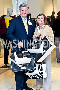 Mark Lowham, Jean Ann Gililland. Photo by Tony Powell. Kickoff for Key to the Cure. Saks Tyson's Galleria. October 18, 2012