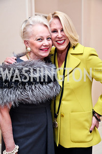 Carole Margaret Randolph, Barbara McConaghy-Johnson. Photo by Tony Powell. Kickoff for Key to the Cure. Saks Tyson's Galleria. October 18, 2012