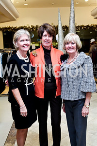Tricia Harris, Rosemary Laphen, Faye Morissette. Photo by Tony Powell. Kickoff for Key to the Cure. Saks Tyson's Galleria. October 18, 2012