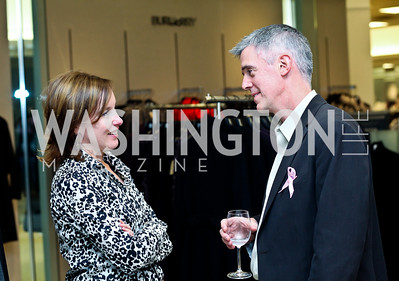 Anne Kisslinger, Greg Fischer. Photo by Tony Powell. Kickoff for Key to the Cure. Saks Tyson's Galleria. October 18, 2012