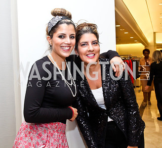 Rebecca Jahangeri, Nicole Bikcen. Photo by Tony Powell. Kickoff for Key to the Cure. Saks Tyson's Galleria. October 18, 2012
