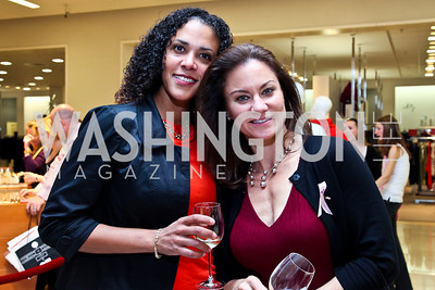 Pilar Lorca, Sonya Spriggs. Photo by Tony Powell. Kickoff for Key to the Cure. Saks Tyson's Galleria. October 18, 2012