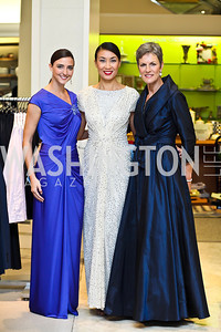 Kate Michael, Yun Chong, Meg Hauge. Photo by Tony Powell. Kickoff for Key to the Cure. Saks Tyson's Galleria. October 18, 2012