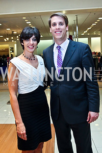 Linda Pastorkovich, Garrett Graff. Photo by Tony Powell. Kickoff for Key to the Cure. Saks Tyson's Galleria. October 18, 2012