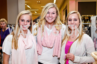 Mary Bishop, Taylor Chason, Heather Uzer. Photo by Tony Powell. Kickoff for Key to the Cure. Saks Tyson's Galleria. October 18, 2012