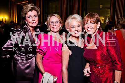 Juliana May, Marcia Carlucci, Carol Lascaris, Susan Davis. Photo by Tony Powell. 2012 LUNGevity Gala. Mellon Auditorium. September 14, 2012
