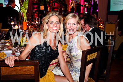 Kristen Olson, Elizabeth Dougherty. Photo by Tony Powell. 2012 LUNGevity Gala. Mellon Auditorium. September 14, 2012