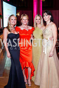 Jamie Dorros, Rhonda Wilkins, Sharon Bradley, Andrea Stern Ferris. Photo by Tony Powell. 2012 LUNGevity Gala. Mellon Auditorium. September 14, 2012