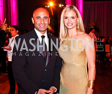 UAE Ambassador Yousef Al Otaiba, Sharon Bradley. Photo by Tony Powell. 2012 LUNGevity Gala. Mellon Auditorium. September 14, 2012