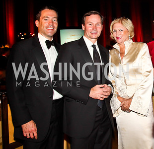 Mark Green and Michael Rankin, Maggie Shannon. Photo by Tony Powell. 2012 LUNGevity Gala. Mellon Auditorium. September 14, 2012