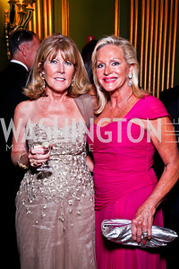 Ginny Grenham, Deborah Sigmund. Photo by Tony Powell. 2012 LUNGevity Gala. Mellon Auditorium. September 14, 2012