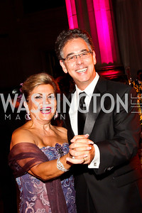 Annie Totah, Neale Perl. Photo by Tony Powell. 2012 LUNGevity Gala. Mellon Auditorium. September 14, 2012