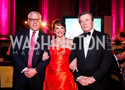 David Rubenstein, Grace Bender, Paul Stern. Photo by Tony Powell. 2012 LUNGevity Gala. Mellon Auditorium. September 14, 2012