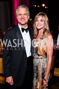 Mark Schoenfeld, Dondi Dahlgaard. Photo by Tony Powell. 2012 LUNGevity Gala. Mellon Auditorium. September 14, 2012
