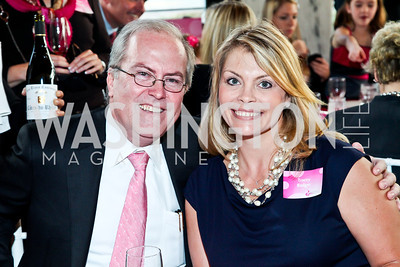 Stephen and Tracey Badger. Photo by Tony Powell. 'La Vie En Rose' Luncheon. French Embassy. October 10, 2012