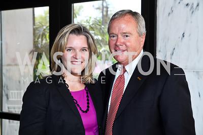 Kelley McCormick, Dan Waetijen. Photo by Tony Powell.  'La Vie En Rose' Luncheon. French Embassy. October 10, 2012