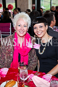 Ellen Vlasak, Alicia Rodrigues. Photo by Tony Powell. 'La Vie En Rose' Luncheon. French Embassy. October 10, 2012