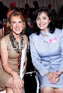 Carly Fiorina, Rachel Brem. Photo by Tony Powell. 'La Vie En Rose' Luncheon. French Embassy. October 10, 2012