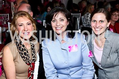 Carly Fiorina, Rachel Brem, Andrea Wolf. Photo by Tony Powell. 'La Vie En Rose' Luncheon. French Embassy. October 10, 2012