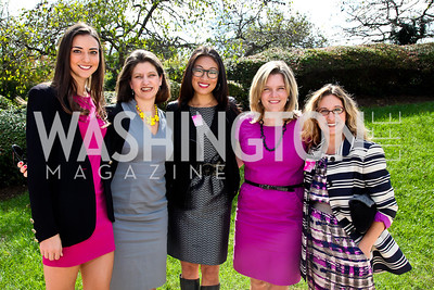 Kate Michael, Jennifer Nycz-Conner, Pamela Sorensen, Kelley McCormick, Karen Sommer Shalett. Photo by Tony Powell. 'La Vie En Rose' Luncheon. French Embassy. October 10, 2012