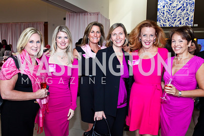 Anne Keech, Erin Barry, Shelley Rubino, Melissa Flood, Sam Depoy, Lita Frazier. Photo by Tony Powell. 'La Vie En Rose' Luncheon. French Embassy. October 10, 2012