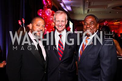 Eugene Kinlow, Jack Evans, Vincent Orange. Leadership Greater Washington's Annual Awards Gala. Photo by Tony Powell. JW Marriott. April 17, 2012