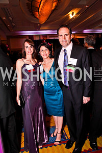Martina Souckova, Madeline Larkin, Adam Ostrach. Leadership Greater Washington's Annual Awards Gala. Photo by Tony Powell. JW Marriott. April 17, 2012