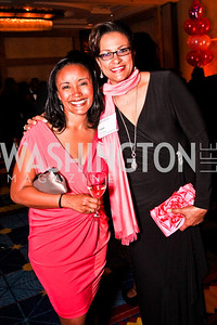 Ty Boyea-Robinson, Debbi Jarvis. Leadership Greater Washington's Annual Awards Gala. Photo by Tony Powell. JW Marriott. April 17, 2012