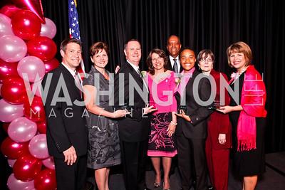 Emcee WJLA-TV's Steve Chenevey with the 2012 LGW Award winners. Leadership Greater Washington's Annual Awards Gala. Photo by Tony Powell. JW Marriott. April 17, 2012