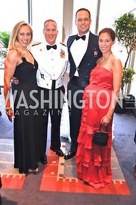 Mr. and Mrs. Major Ken Witt, Mr. and Mrs. Captain Alex Menze