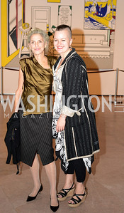 Dorothy Lichtenstein, Anna U. Davis, Roy Lichtenstein Retrospective opens at the National Gallery of Art.  Photo by Ben Droz.