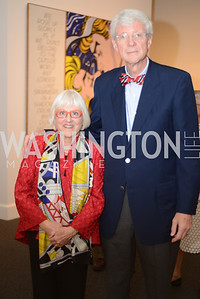 Mary Beebe, Charles Reilly,  Roy Lichtenstein Retrospective opens at the National Gallery of Art.  Photo by Ben Droz.