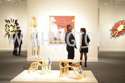 Mitchell Lichtenstein, Roy Lichtenstein Retrospective opens at the National Gallery of Art.  Photo by Ben Droz.