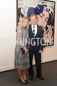 Marnie Owens, Ned Martel, Roy Lichtenstein Retrospective opens at the National Gallery of Art.  Photo by Ben Droz.